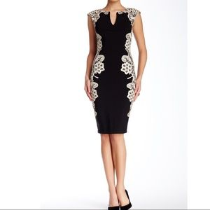 Navy Wiggle Dress Sheath Dress Lace Bodycon